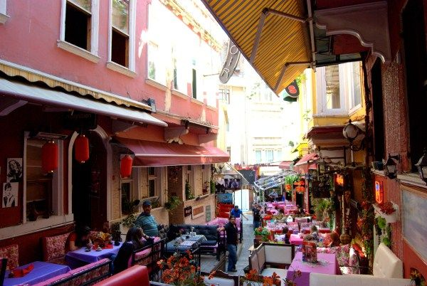 French Street in Istanbul  http://turkishtravelblog.com/french-street-istanbul/