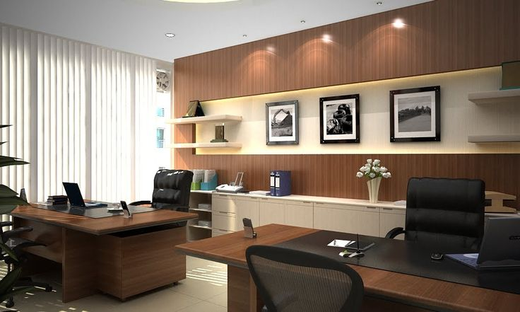 Modern style director room interior design decorating - Office interior design photo gallery ...