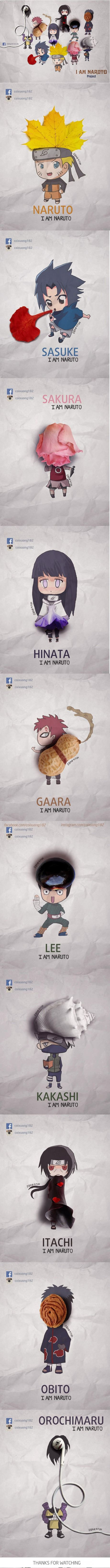 Amazing Naruto's Character by Nguyen Quang Huy..... This is adorable!