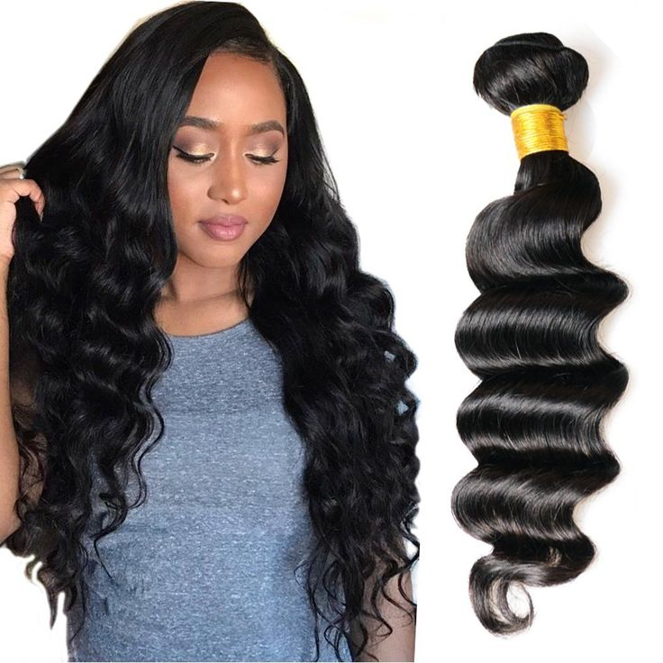 Morningsilkwig Loose deep Wave Human Hair Bundles Brazilian Hair Weave 100% Human Virgin Hair Weaves 1b#Natrual Black 100g/pcs
