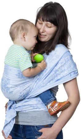 """Чудо-Чадо Слинг-шарф Герба цвет голубой  — 1611р. -------------- Специальное плетение Ткань, из которой сшиты слинг-шарфы """"Герба"""", имеет диагональное жаккардовое плетение. Это идеальная ткань для шарфов. Она не растягивается и не провисает. Слинг из такой ткани хорошо распределяет нагрузку на спину взрослого, отлично облегает, обеспечивает безопасную поддержку для позвоночника малыша. Двусторонний Жаккардовая ткань не имеет изнанки, один и тот же узор выступает с обеих сторон, меняется…"""