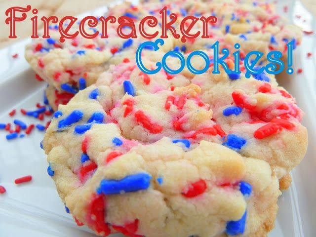 Firecracker Cookies. Made with a cake mix - so easy!