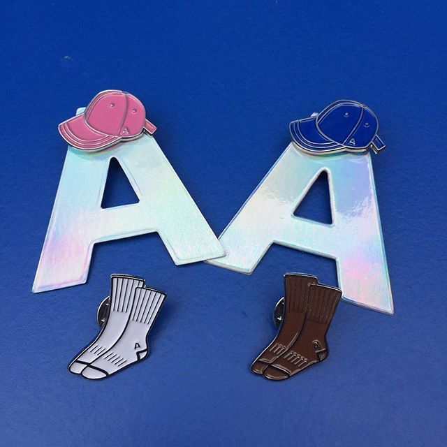 A cap & A socks Pin