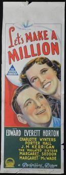 Let's Make a Million (1936) Directed by Ray McCarey.  With Charlotte Wynters, Edward Everett Horton, Porter Hall, J.M. Kerrigan. www.moviemem.com