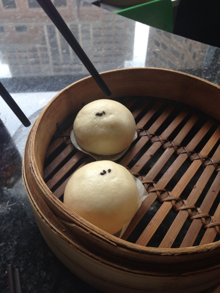 black sesame paste filled steamed buns from din tai fung