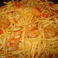 Shrimp & tomato linguine