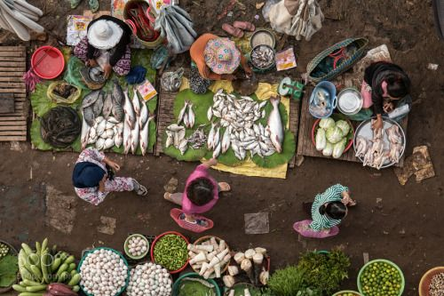 Kampong Cham by the22row  market above Cambodia Kampong Cham the22row