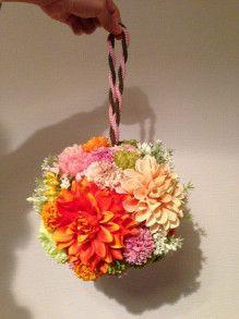【製作編】和装ボールブーケの作り方②|yuuri♪♡Hawaii挙式~新米ママブログ♪