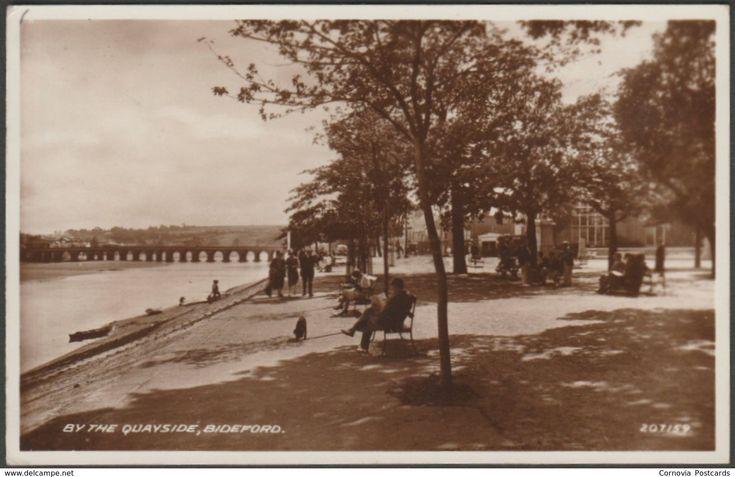 By the Quayside, Bideford, Devon, c.1940s - Valentine's RP Postcard