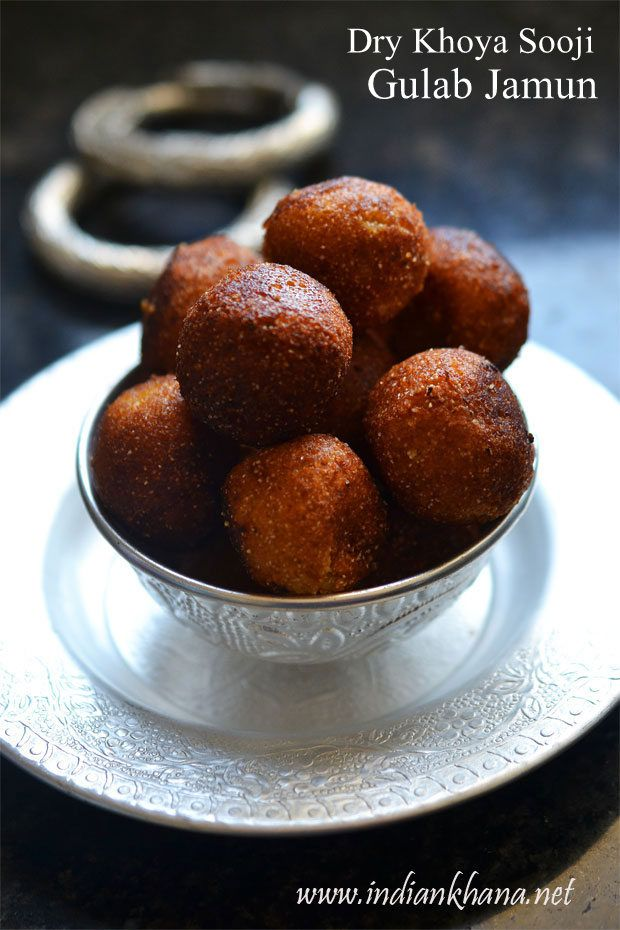 Dry Khoya Sooji Gulab Jamun made with minimal ingredients, it's easy and perfect for #Holi