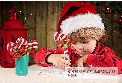 Cubierta de Adornos de navidad Santa del Palillo de la Pluma Lápiz Tapa Decoración de Mesa Regalos de Navidad 1 unid