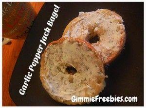Garlic Pepper Jack Bagel - Great healthy alternative to Garlic Bread! #Nutrisystem @GimmieFreebies_Recipes