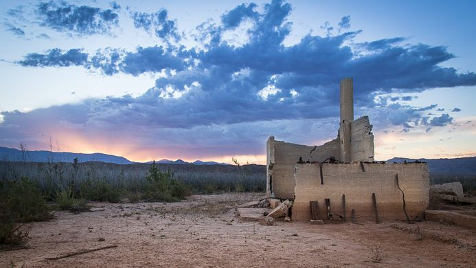 This former Mormon settlement is only now reemerging from the receding waters of Lake Mead.