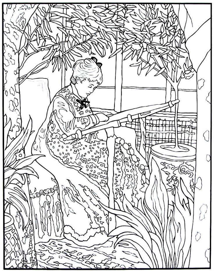 Color Your Own Monet Paintings Dover Pictorial Archives Paperback Marty Noble 9780486439945