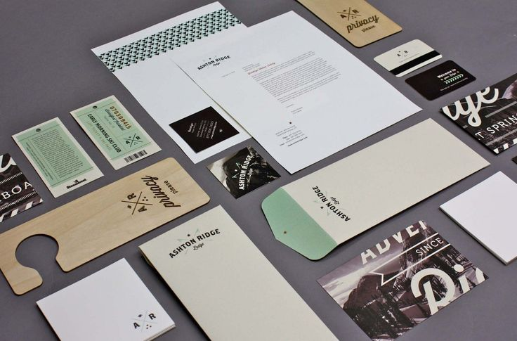Ashton Ridge Lodge identity collateral Graphic Design| http://graphicdesigncollections119.blogspot.com