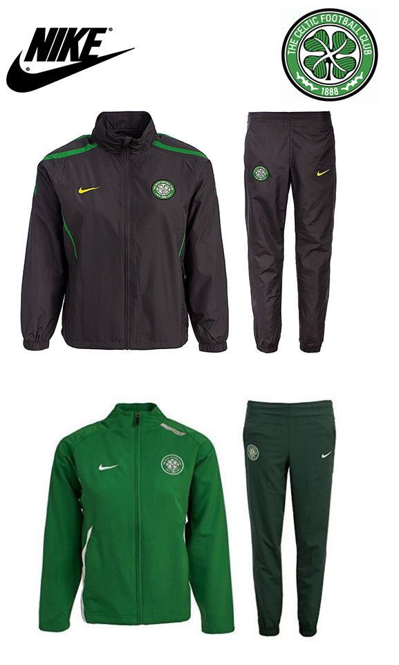 ee814d0d Nike Celtic FC Green Grey football Boys Girls Training Tracksuit top Bottom  6-12 #Nike #Tracksuit