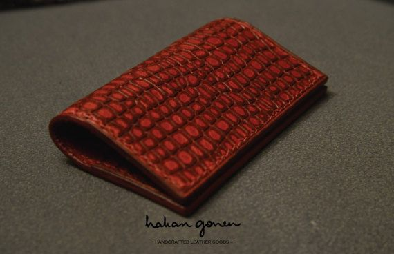 Check out this item in my Etsy shop https://www.etsy.com/listing/498517206/crocodile-embossed-leather-wallet-card