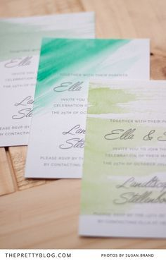 http://www.theprettyblog.com/wedding/make-watercolour-wedding-invitations-3-easy-steps/ Water color invited to look like wine