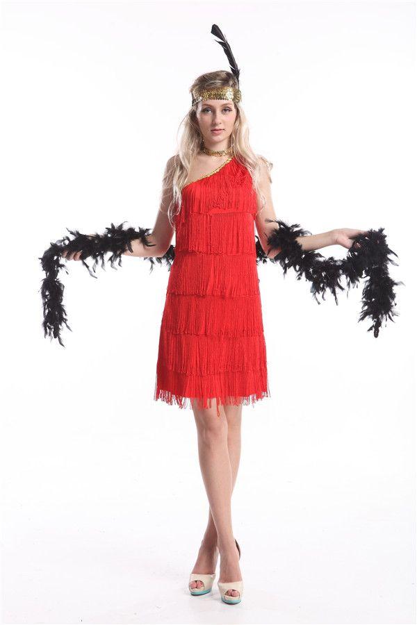 M s red dress 20s