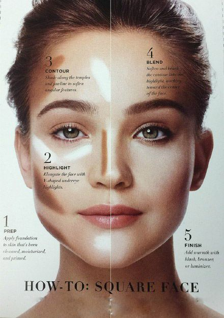 How tO Make Up Square Face                                                                                                                                                                                 More