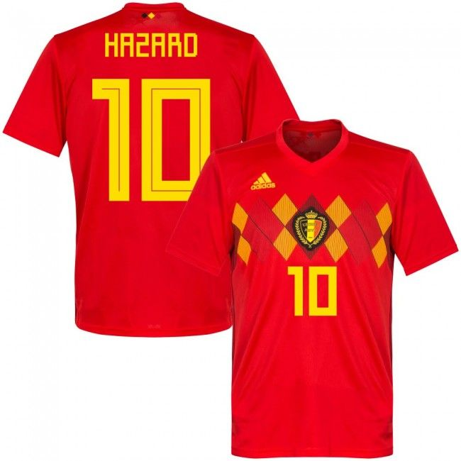 2018 Belgium World Cup Home Jersey Shirt hazard  0e92f49de