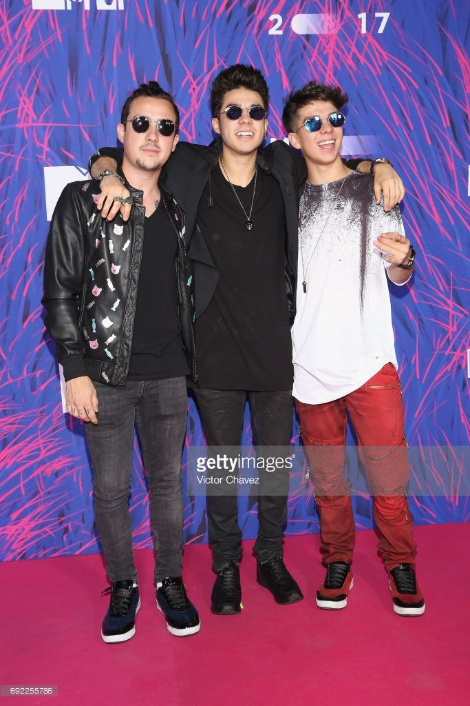 Daniel Bautista, Mario Bautista and Jan Carlo Bautista attend the MTV MIAW Awards 2017 at Palacio de Los Deportes on June 3, 2017 in Mexico City, Mexico.