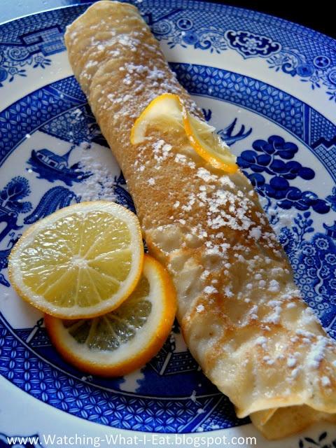 English Pancakes with Meyer Lemon & Sugar ~ Shrove Tuesday