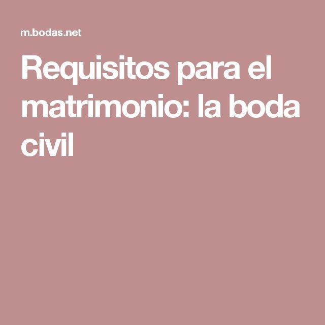 Requisitos para el matrimonio: la boda civil