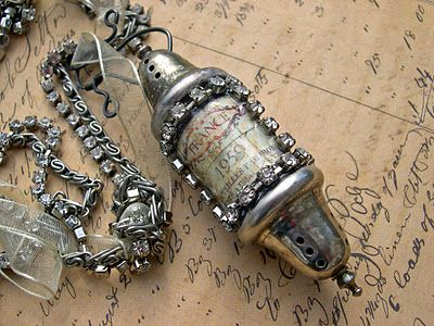 necklace made from salt and pepper shakers - by Katalina Jewelry