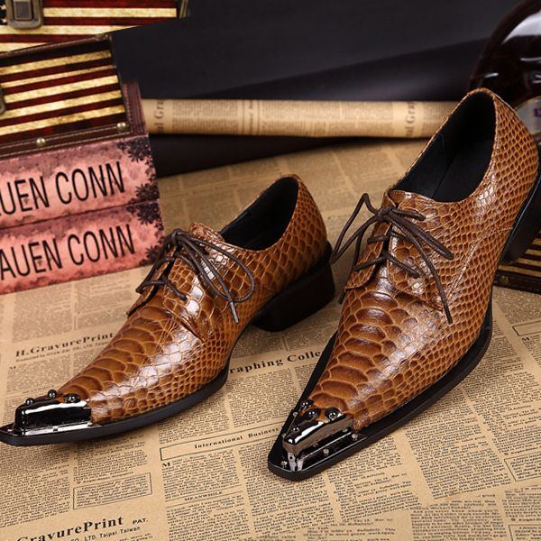 Find More Men's Casual Shoes Information about Luxury Brand Style Head Layer Cowhide Men's Business Dress Genuine Leather Strap Snake Male High end Tip Shoes,High Quality shoe comfort,China dress up casual outfit Suppliers, Cheap shoes dress men from World famous brand discount store on Aliexpress.com