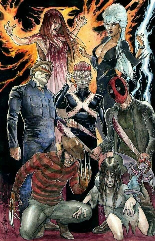 X Men As Horror Icons Horror Movie Icons Comics Horror Movie Art