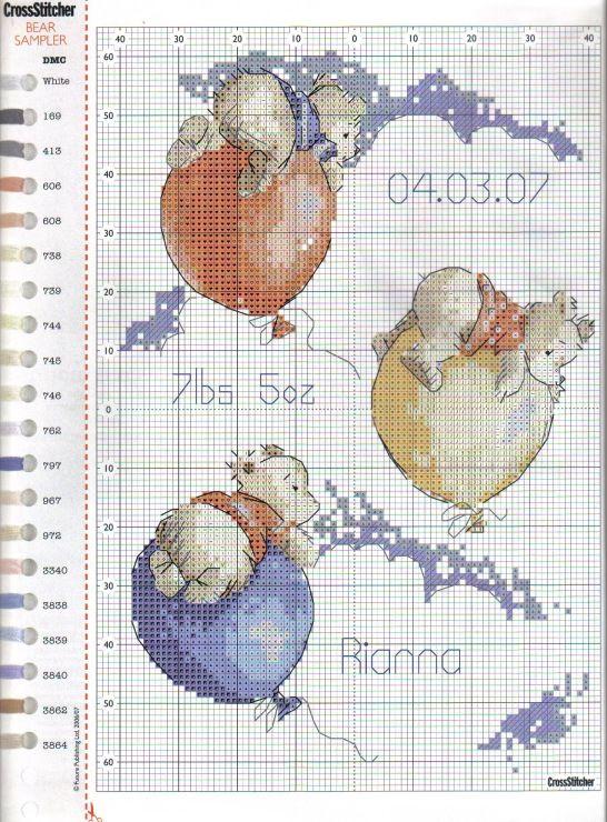 Balloons - Cross stitch