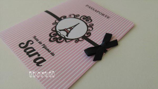 Convite passaporte - Festa Paris  :: flavoli.net - Papelaria Personalizada :: Contato: (21) 98-836-0113 - Também no WhatsApp! vendas@flavoli.net