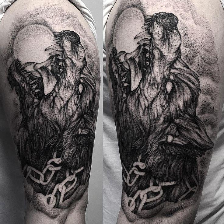 25+ bästa Fenrir tattoo idéerna på Pinterest | Asatru ...