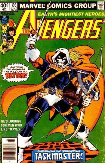 Taskmaster, because being able to do everything you do isn't intimidating whatsoever.