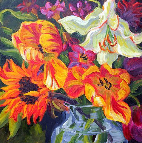 Jodi Shuster Acrylic Paintings On Canvas Impressionist