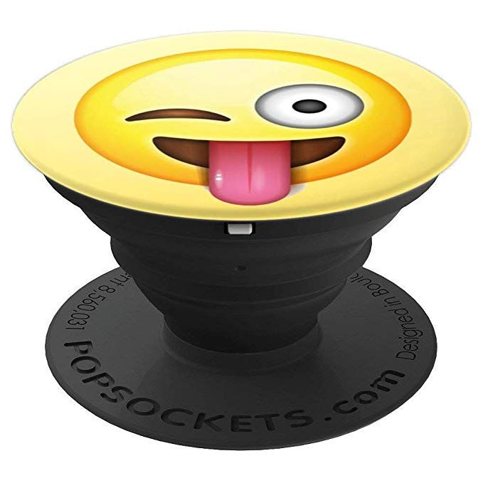 Tongue Emoji Popsockets Grip And Stand For Phones And Tablets Tongue Sticking Out Emoji Smile Face Happy Funny Cool Blinking Popsockets Phone Tongue Emoji