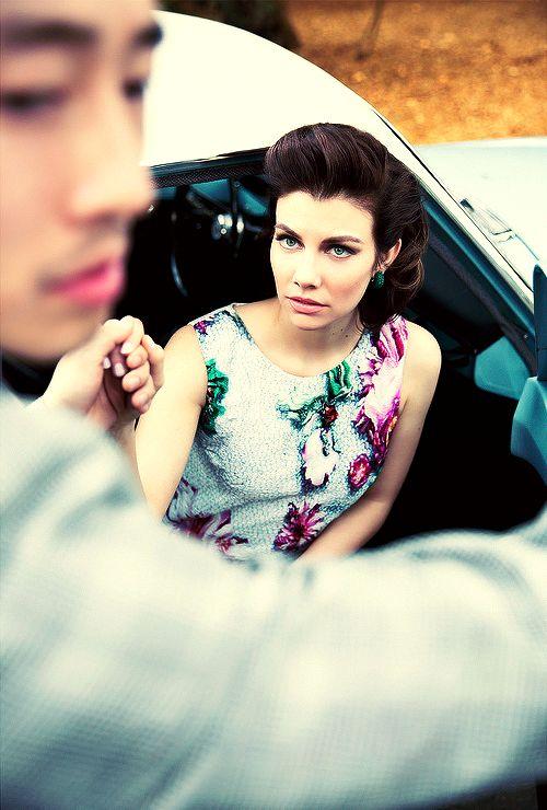Lauren Cohan & Steven Yeun from LA Magazine Photo shoot