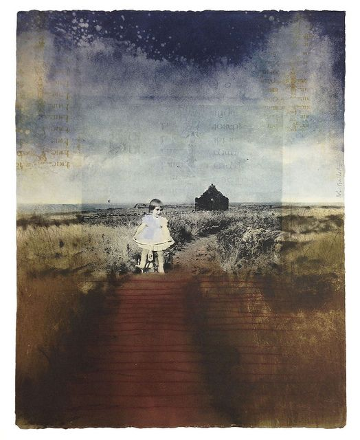 """Robin McCloskey, Genealogy, 1998 Photo etching, aquatint, dry point, and monotype 22.5 x 17.5"""""""