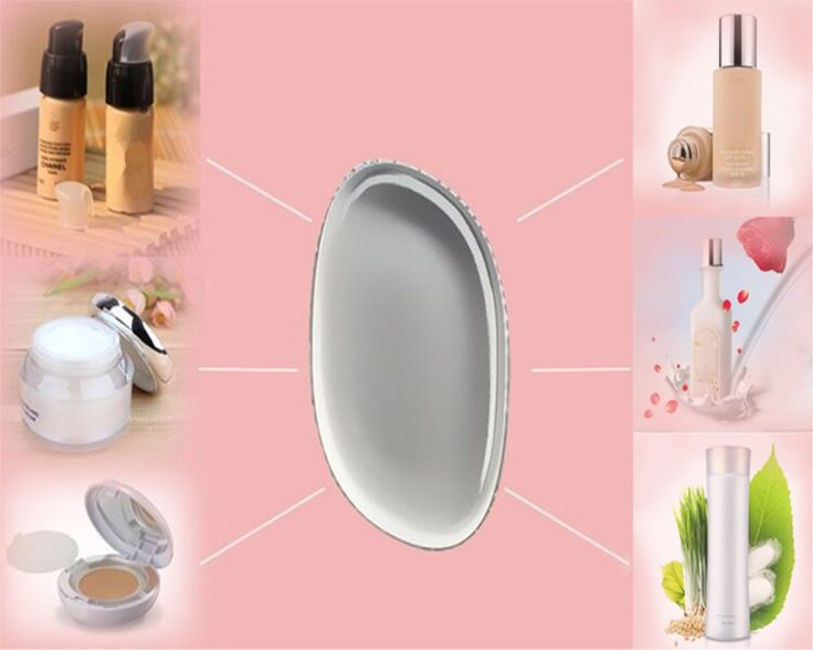 2017 New Silicone gel lady face Foundation Soft makeup puff cosmetic Beauty tools not Sponge Powder blender for women BB CC