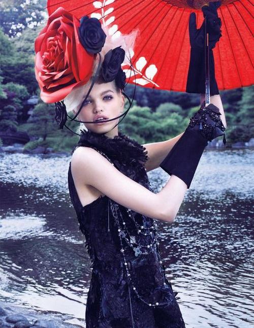 """Daphne Groeneveld in """"The Secret Chatter Of Golden Monkeys"""" by Mark Segal for Vogue Japan November 2012"""