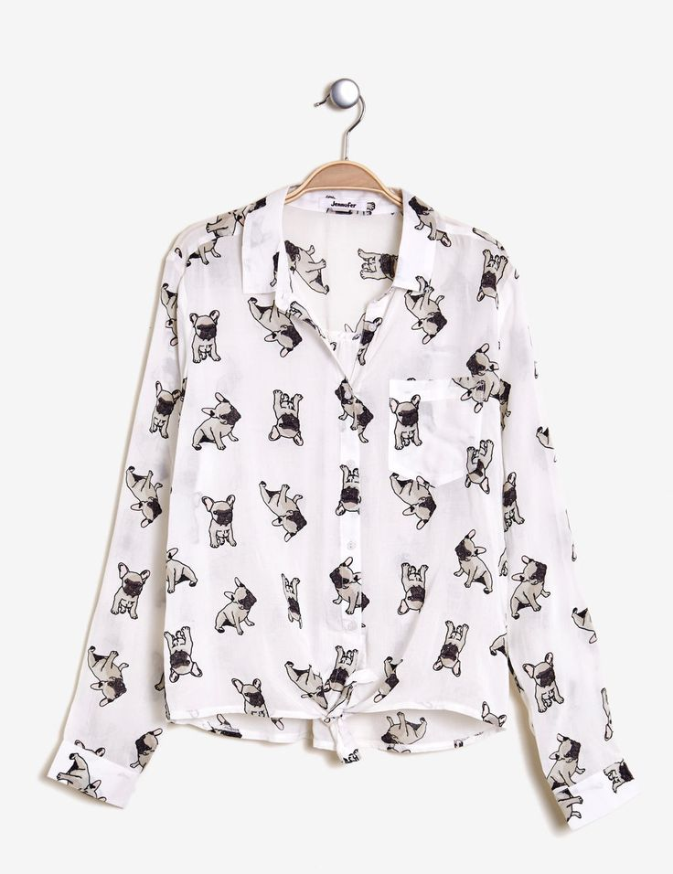 Chemise à nouer blanc femme • Jennyfer