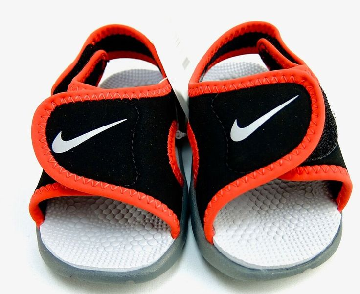 Nike Sunray Adjust 4 Sandals Toddler Boys Red Black Shoe ...