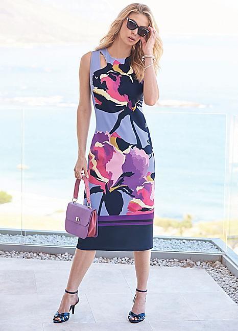Placement Cut-Out Dress #Kaleidoscope #Workwear