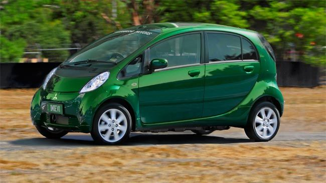 Mitsubishi iMiEv tops the Green Vehicle Guide. Runs entirely on battery power.
