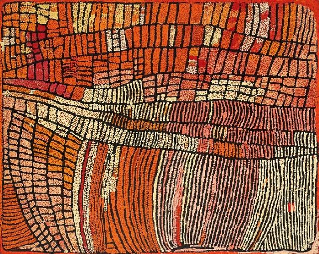 Naata Nungurrayi born circa 1932    MARRAPINTI (2003)    synthetic polymer paint on linen. Papunya Tula Artists