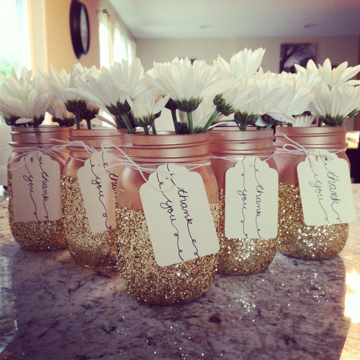 Diy party favors that doubled as table decor homemade for Home made party decorations