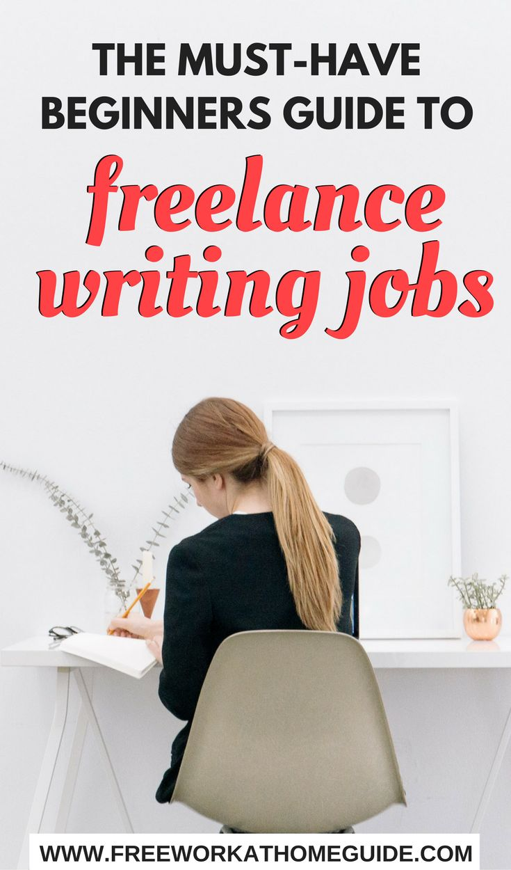 Want To Become A Freelance Writer or Blogger? Get This Must Have Beginner's Guide to 50+ Freelance Writing Jobs - Free Work at Home Guide