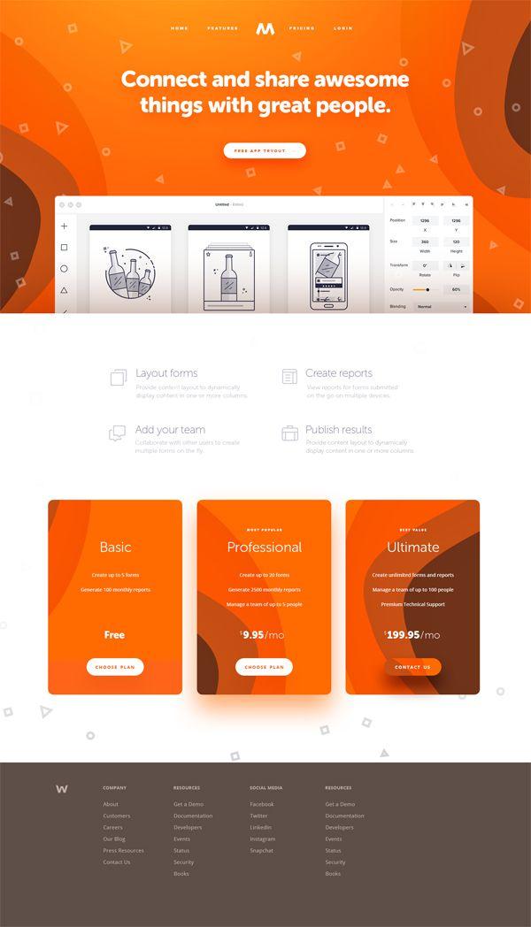 Connect And Share Web Design Web Layout Design Minimal Web Design