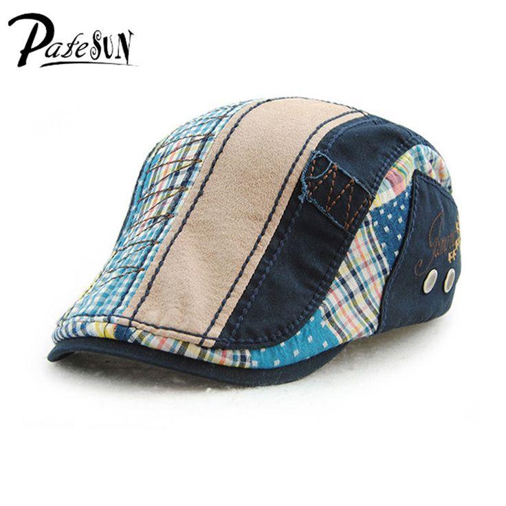 Fashion Unisex Beret Hat For Men Women Cotton Leisure Visor Sun hat Casquette Gorras Planas Flat Cap Boina Masculina #Affiliate